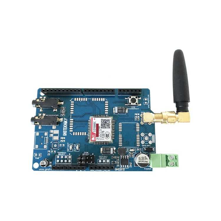 Arduino GSM Shield / Genişletme Kartı (SIM800 - IMEI Kayıtlıdır)