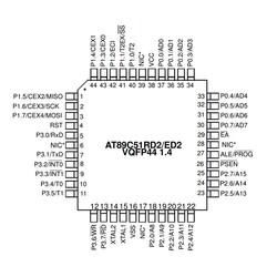 AT89C51RD2-RLTUM SMD 8-Bit 40MHz Mikrodenetleyici VQFP-44 - Thumbnail