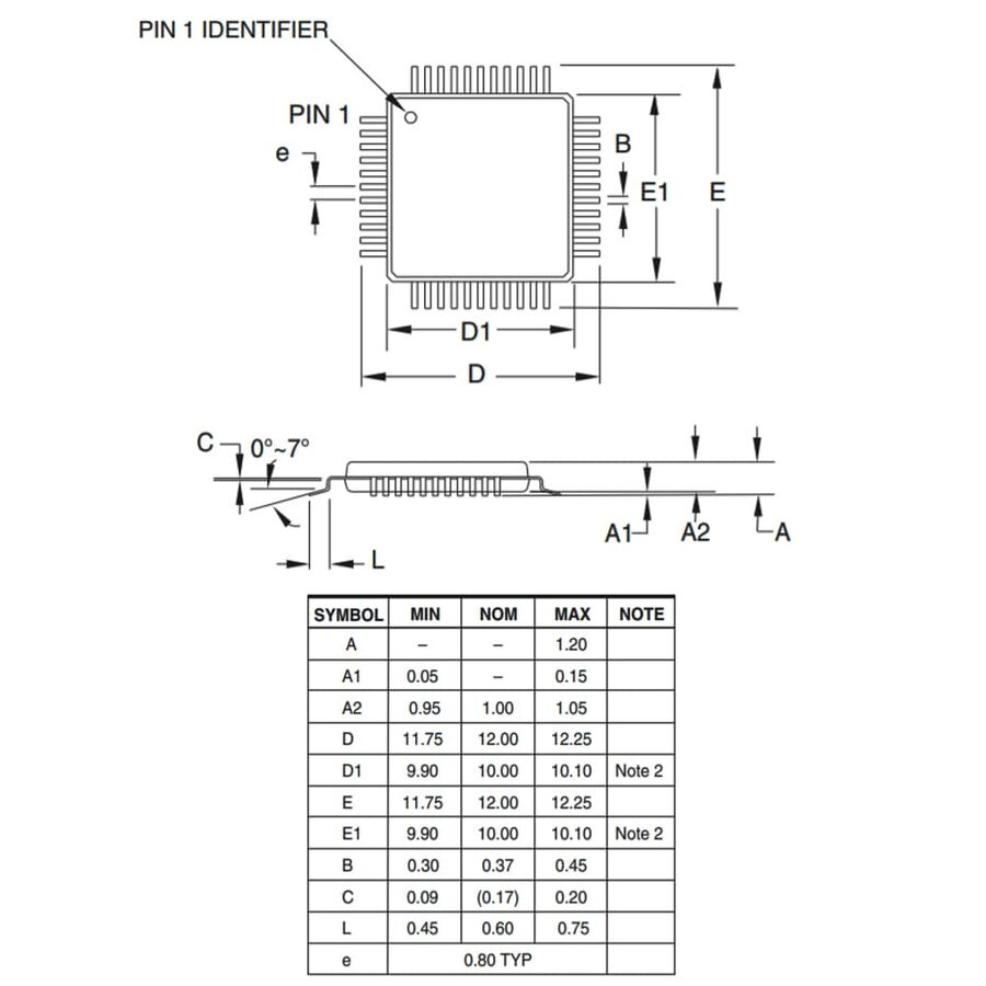 ATMEGA1284P-AU Smd 8-Bit 20MHz Mikrodenetleyici TQFP44