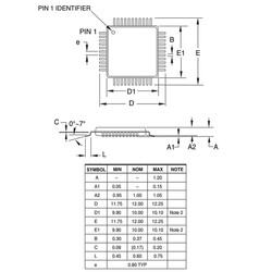 ATMEGA1284P-AU Smd 8-Bit 20MHz Mikrodenetleyici TQFP44 - Thumbnail