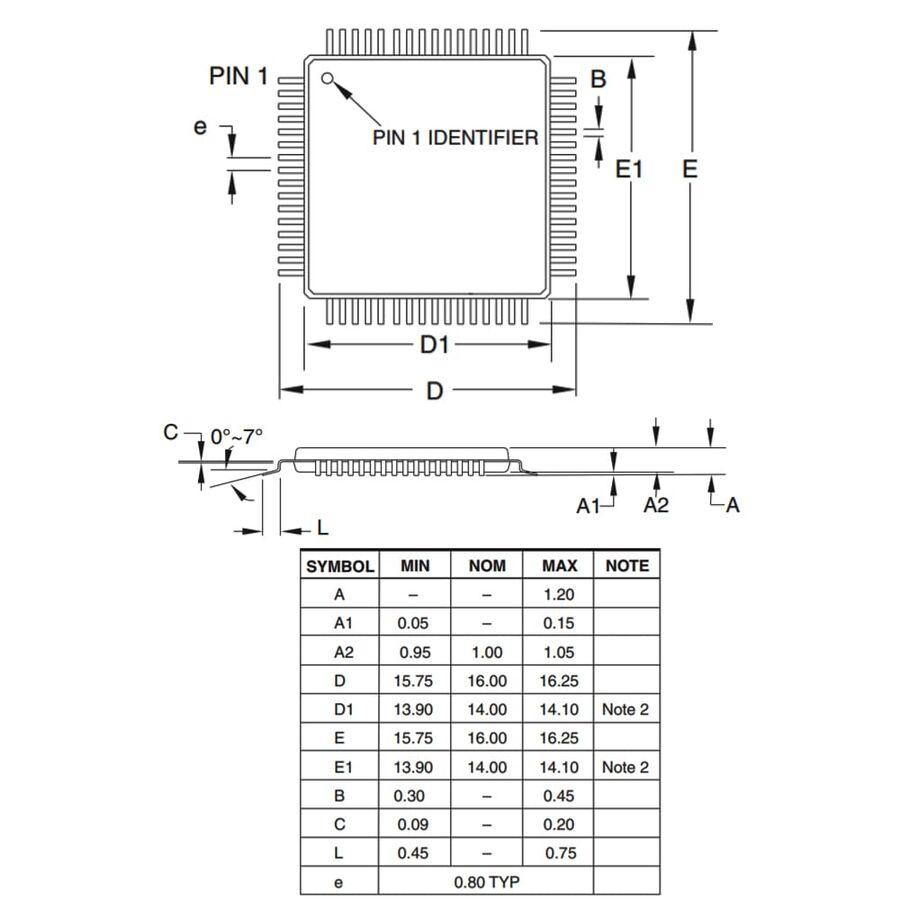 ATMEGA2561-16AU 8-Bit 16Mhz Smd Mikrodenetleyici TQFP64