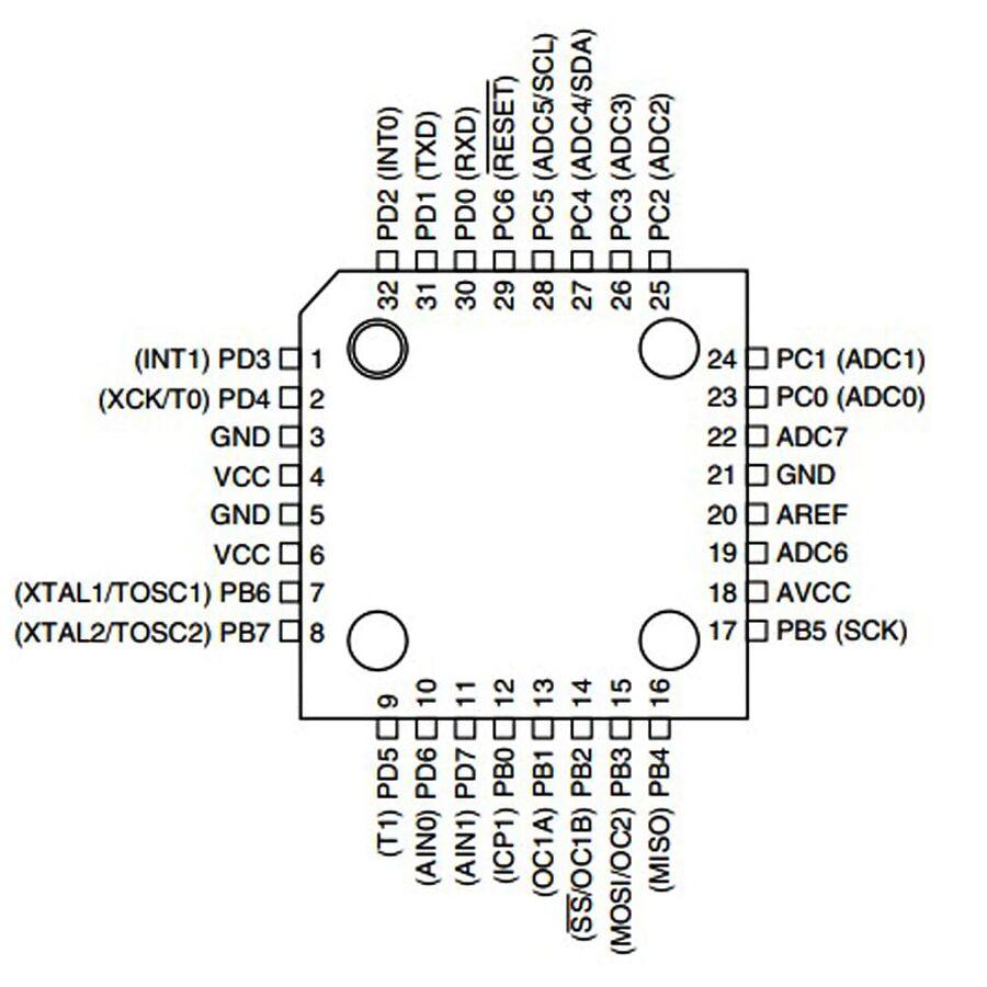 ATMEGA8-16AUR 8-Bit 16MHz SMD Mikrodenetleyici TQFP32