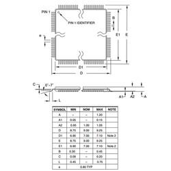 ATMEGA8-16AUR 8-Bit 16MHz SMD Mikrodenetleyici TQFP32 - Thumbnail