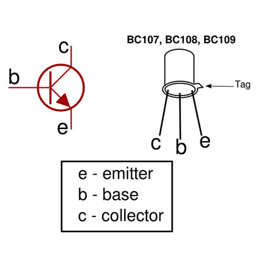 BC107 Transistör Bjt Npn TO-18