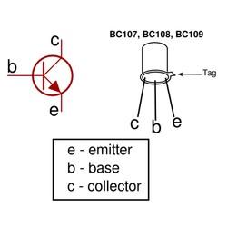 BC107 Transistör Bjt Npn TO-18 - Thumbnail