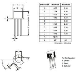 BC160 Transistör Bjt Pnp TO-39 - Thumbnail