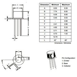 Bc161 Bjt Pnp Transistör TO-39 - Thumbnail