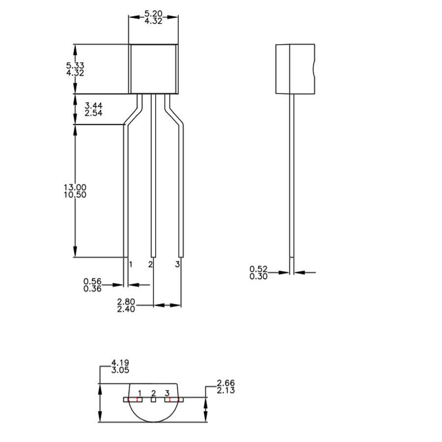 BC547 Transistör Bjt npn TO-92