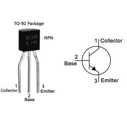 BC548 Transistör Bjt Npn TO-92 - Thumbnail