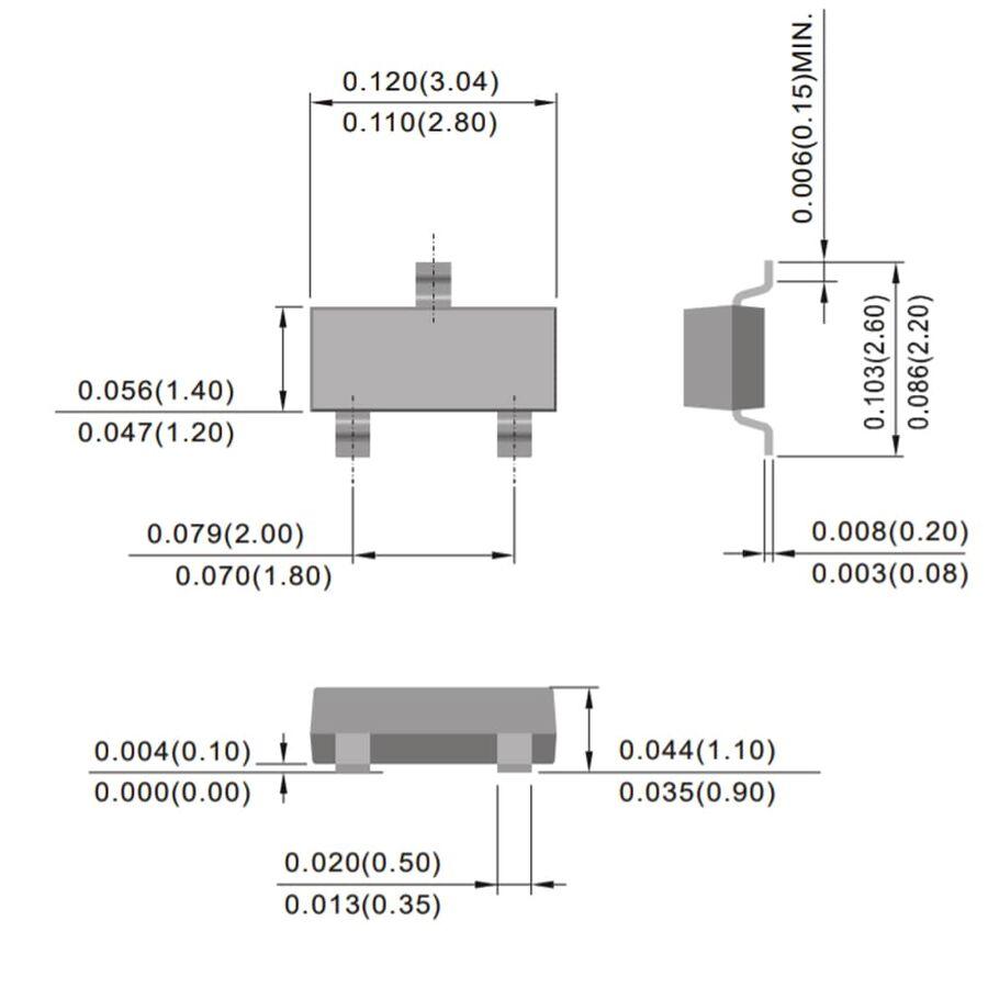 Bc817-25 Transistor NPN 45v 0,5a 0,2w sot23