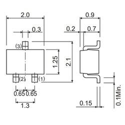 BC817-40W Npn Smd Transistör Sot-323 - Thumbnail