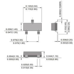 BC847CW-E6327 Npn Smd Transistör Sot-23 - Thumbnail