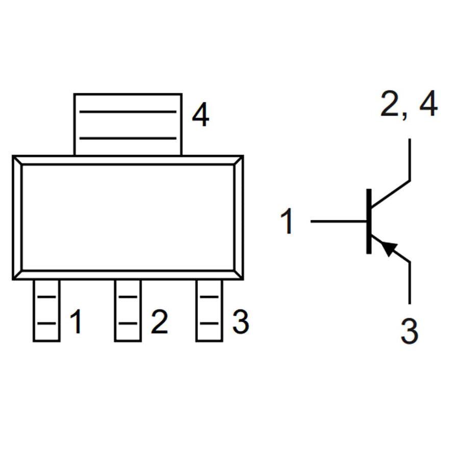 BCP56-16-HT Npn Smd Transistör Sot-223