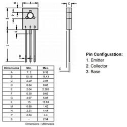 BD139 Transistör Bjt Npn TO-126 - Thumbnail