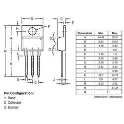 BD242 Transistör Bjt Pnp TO-220 - Thumbnail