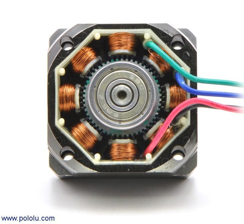 Bipolar Step Motor 200 Adım 35x36mm 2.7V NEMA 14 Pololu - 1209