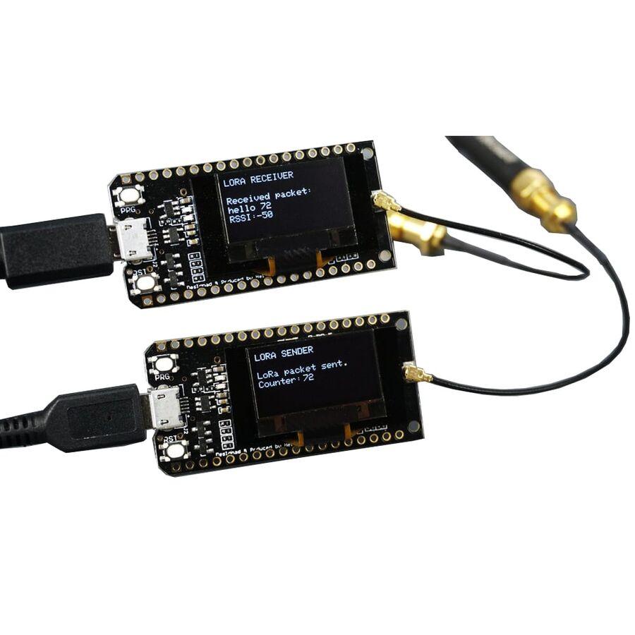 Bluetooth WIFI ESP-32 Geliştirme Modülü LORA32 Lora 868 Mhz ESP32 LoRa OLED