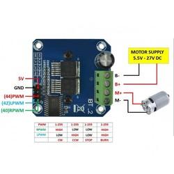 BTS7960B 40 Amper Motor Sürücü Modülü - Thumbnail