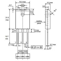 BU2508AF Transistör Bjt Npn SOT-199 - Thumbnail