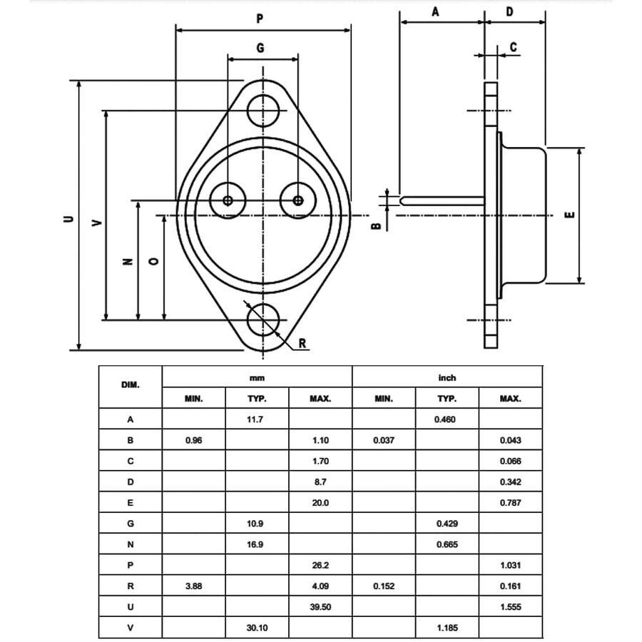 BUX98A Transistör Npn TO-3