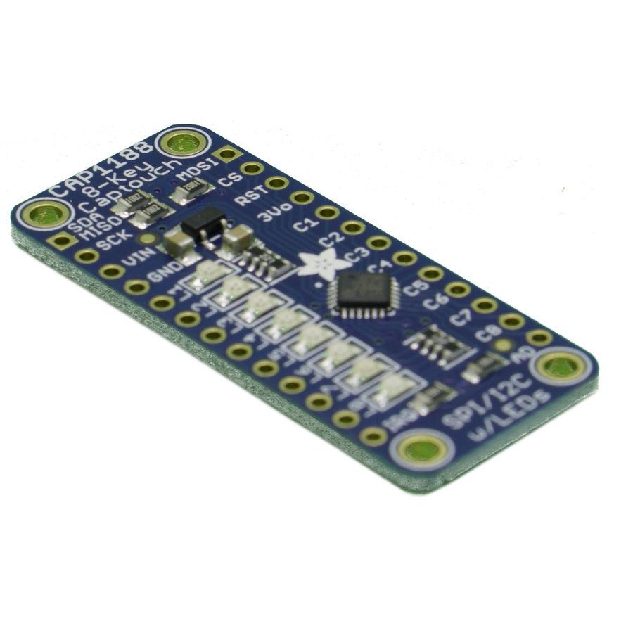 CAP1188 - 8 Anahtarlı Kapasitif Dokunmatik Sensör Breakout Kartı - I2C veya SPI