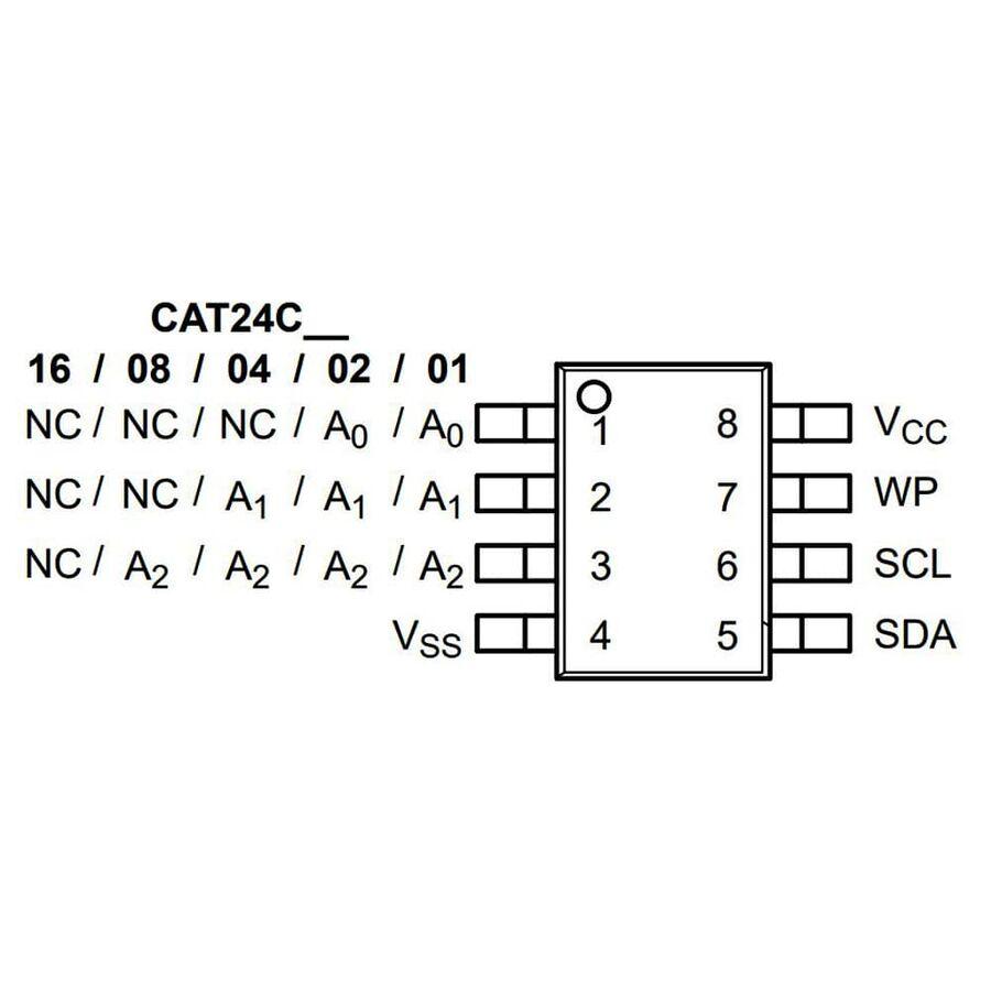 CAT24C16WI-GT3 16Kbit Smd EEPROM Entegresi SOIC8