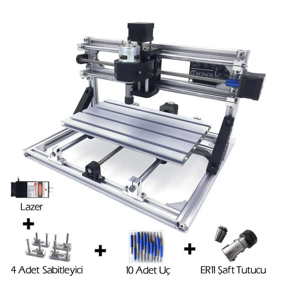 CNC3018 5500mW Lazerli CNC Makinesi - Tezgahı