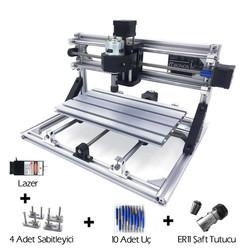 CNC3018 5500mW Lazerli CNC Makinesi - Tezgahı - Thumbnail