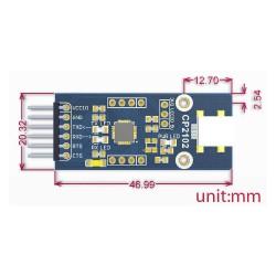 CP2102 USB UART Board (mini) - Waveshare - Thumbnail