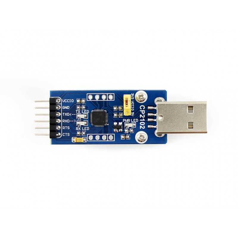 CP2102 USB-UART Çevirici Modül (USB-A) - Waveshare