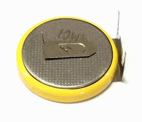 CR2032 3 Pin Yatık pcb Lityum Pil