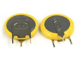 CR2032 Lityum 3 Pin Dik PCB Pil
