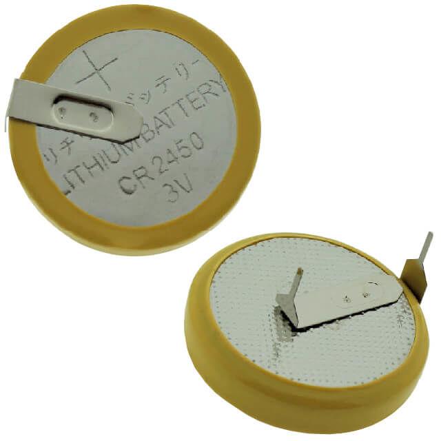 CR2450 2 Pin Yatık PCB Lityum Pil