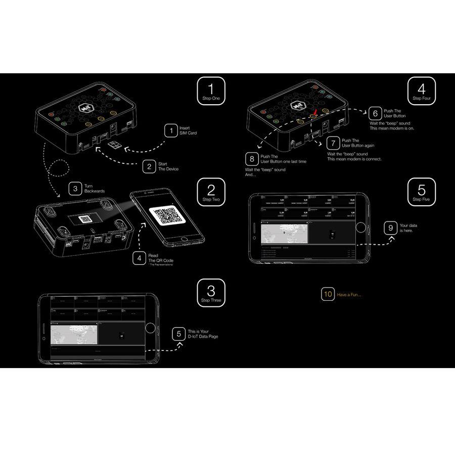 D-IoT 2560 Arduino Mega Tabanlı GSM/GPS Geliştirme Kartı