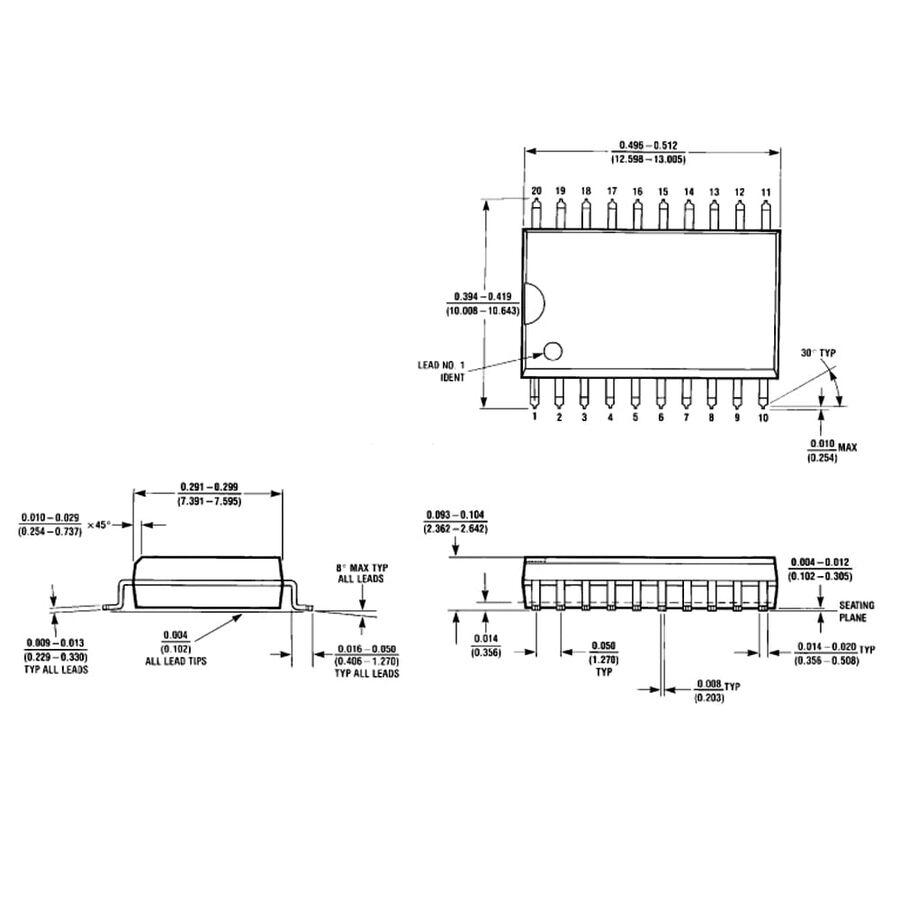 DAC0832LCWM Smd Dijital Analog Çevirici Entegresi Soic-20