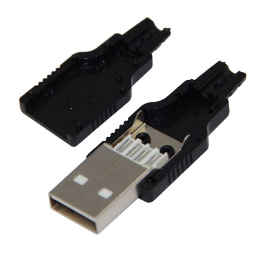 DC264A USB Şase A Tip Erkek Kapaklı