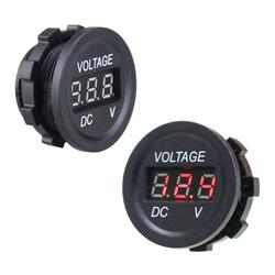 DC5V-30V LED Panel Mini Dijital Voltmetre - Beyaz - Thumbnail