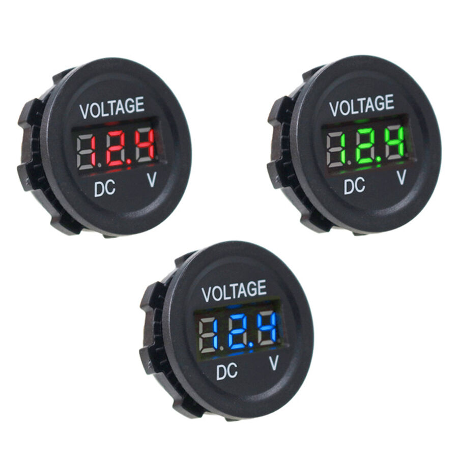 DC5V-30V LED Panel Mini Dijital Voltmetre - Mavi