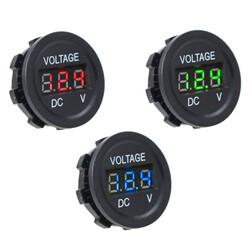 DC5V-30V LED Panel Mini Dijital Voltmetre - Mavi - Thumbnail