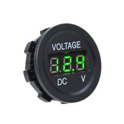 DC5V-30V LED Panel Mini Dijital Voltmetre - Yeşil - Thumbnail