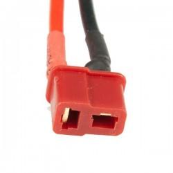 T-Plug Dişi Lipo Pil Şarj Kablosu 15 cm 12awg - Thumbnail
