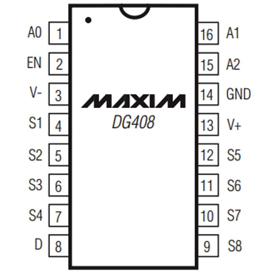 DG408 Smd CMOS Analog Çoklayıcı Multiplexer - Demultiplexer Entegresi Soic-16