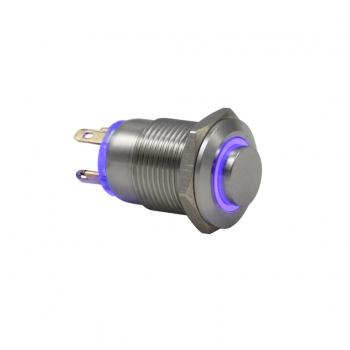 Drn412 12mm Metal Mavi Ledli Yaylı Buton