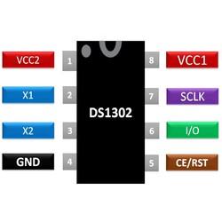 DS1302 RTC Gerçek Zaman Entegresi Dip-8 - Thumbnail