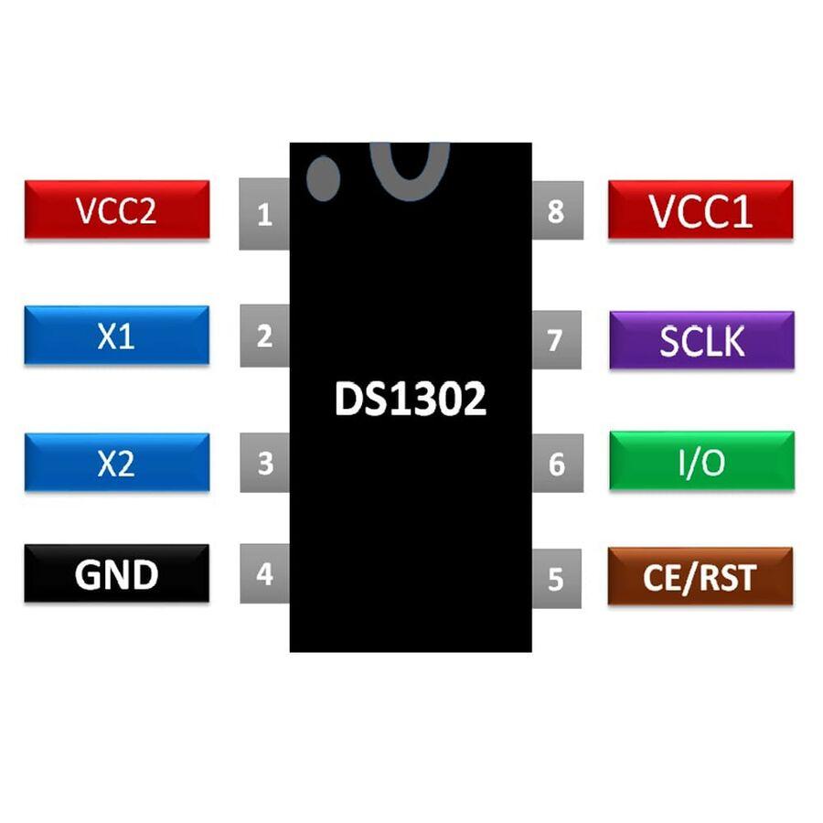 DS1302 Smd RTC Gerçek Zaman Entegresi Soic-8