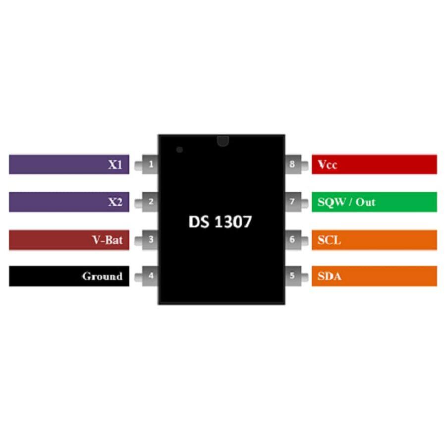 DS1307 RTC Gerçek Zaman Entegresi Dip-8