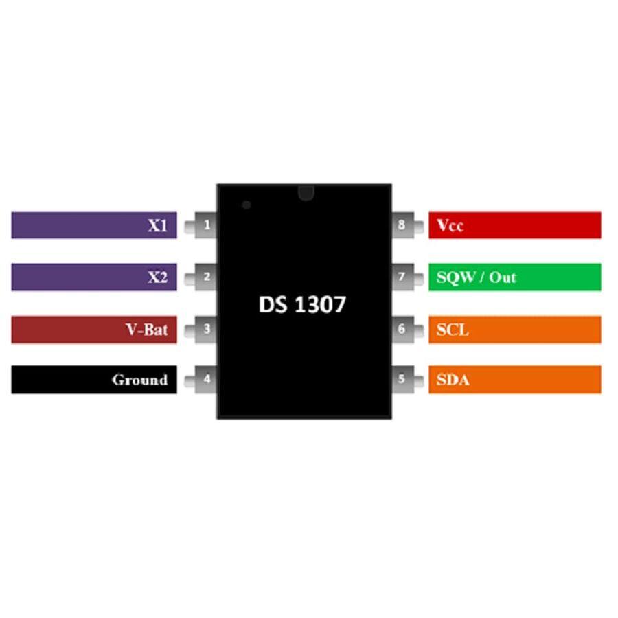 DS1307 Smd RTC Gerçek Zaman Entegresi Soic-8