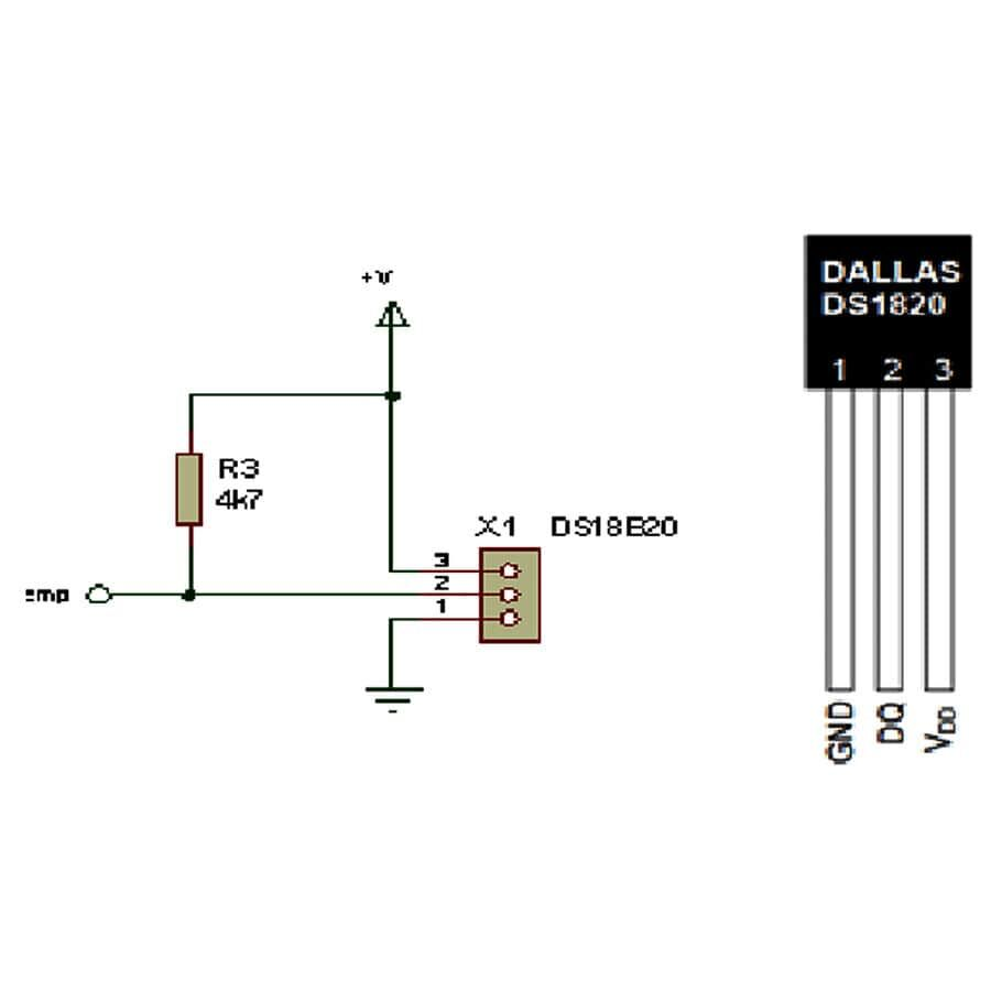 DS1820 Sıcaklık Sensörü Entegresi PR-35