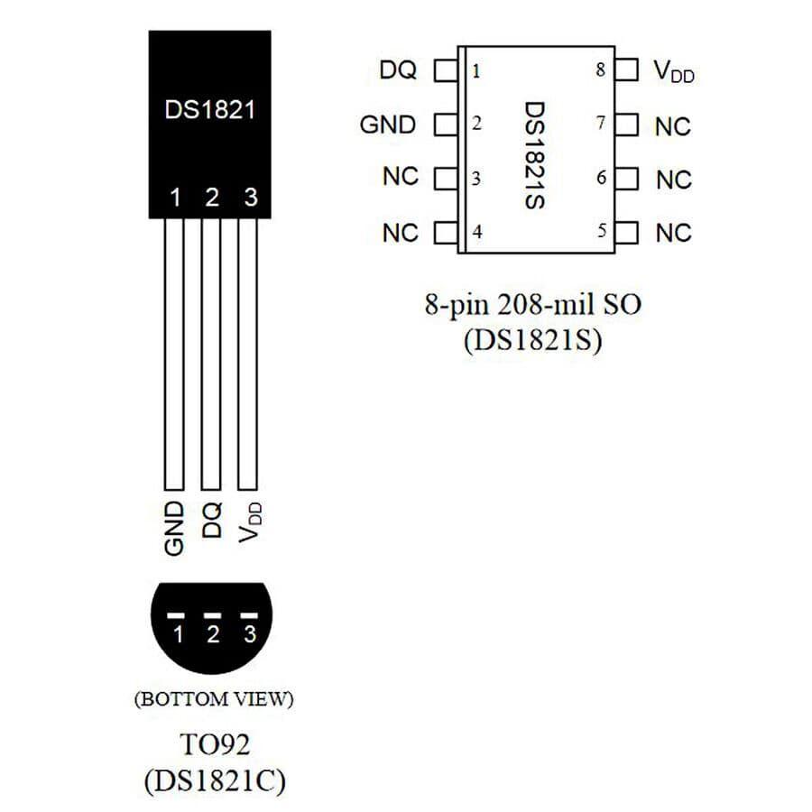DS1821 Sıcaklık Sensörü Entegresi TO-92