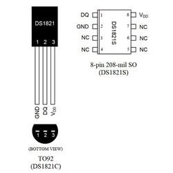 DS1821 Sıcaklık Sensörü Entegresi TO-92 - Thumbnail